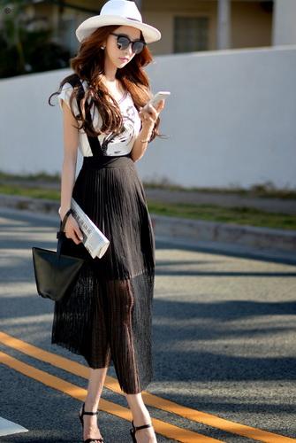 С чем носить плиссированную юбку: 50 идей для мини, миди и макси - Part 2