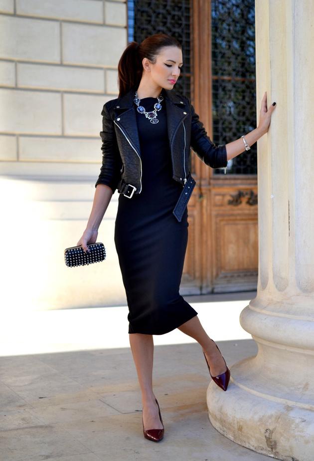 Длинное черное платье образы