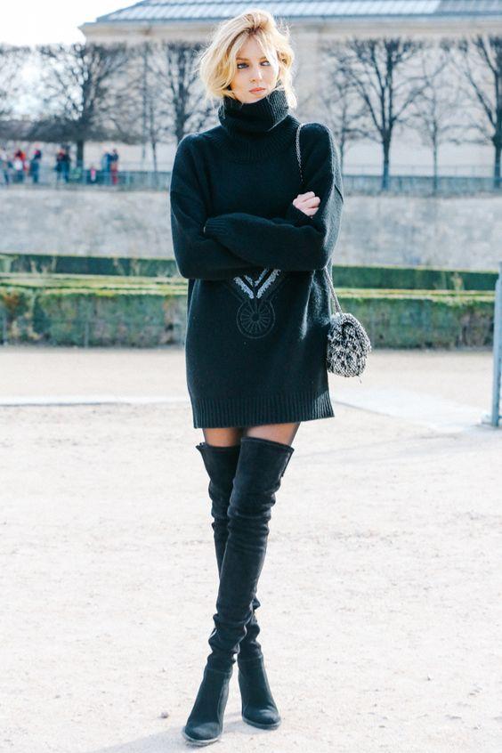 Фавориты стритстайла: 5 эффектных образов с модными ботфортами