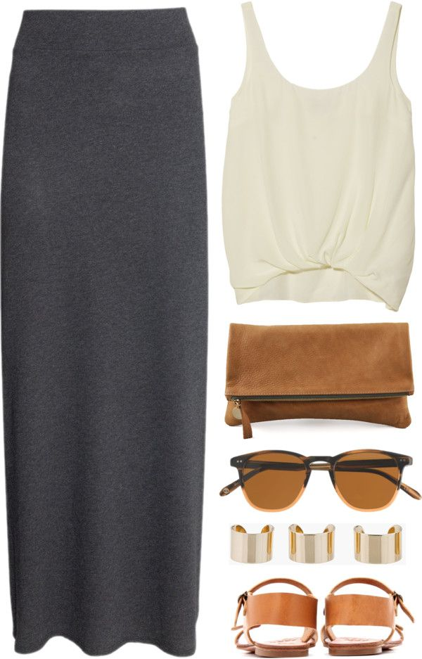 И целого миди мало: 13 стильных образов с юбкой-миди