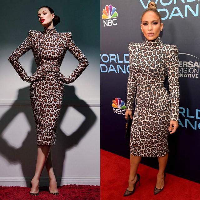 Джей Ло в провокационном платье снова покорила фанатов. Почти как пантера!