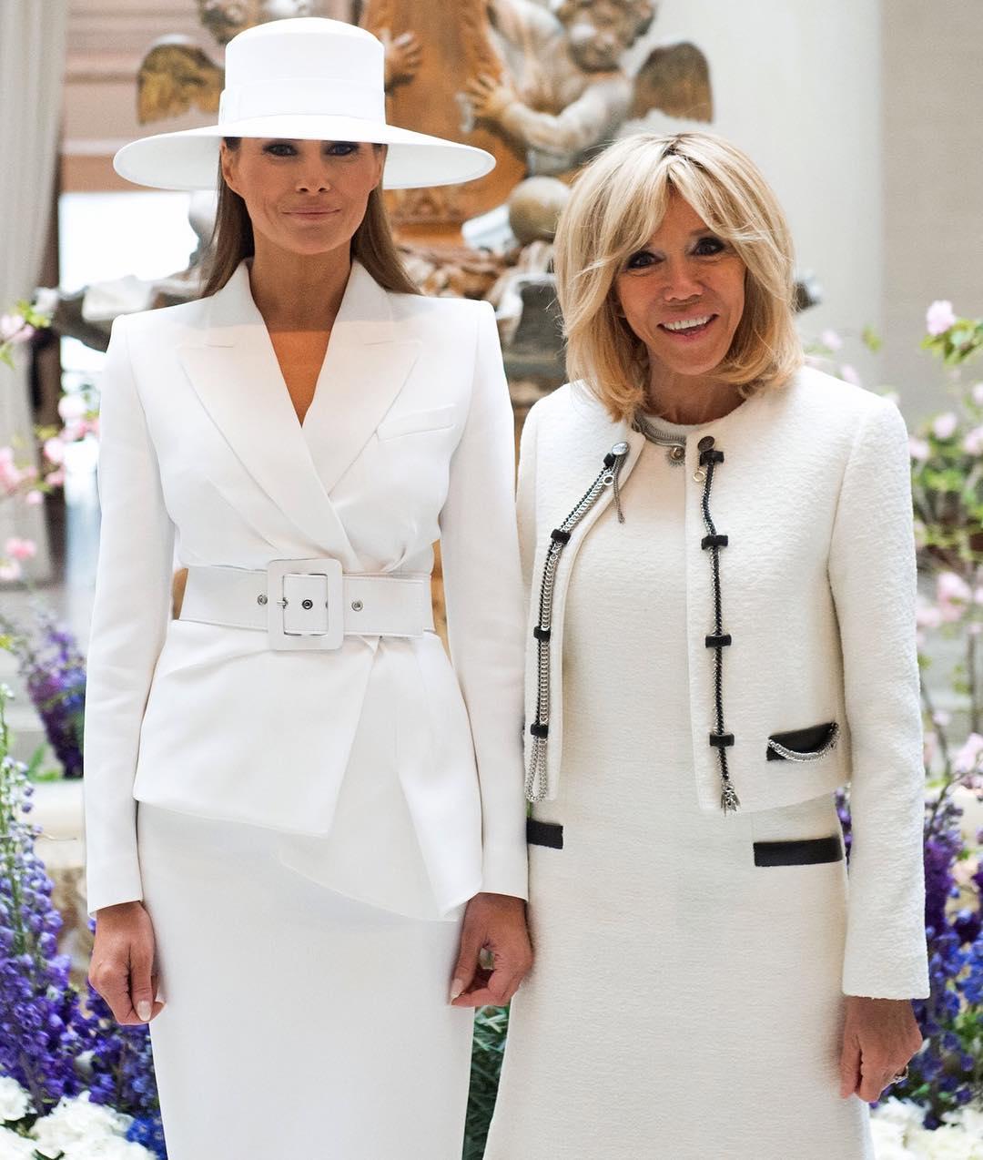 Модная битва: кто выглядит лучше — Мелании Трамп и Брижит Макрон?