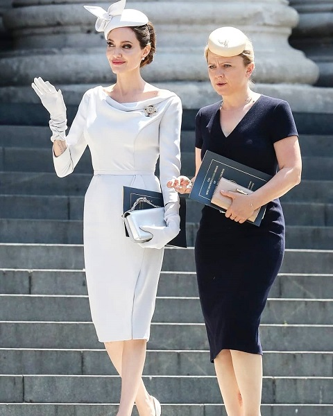 Сама элегантность: Анджелина Джоли покорила всех новым образом от Ralph&Russo