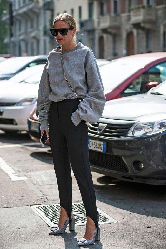 6 стильных идей с чем носить брюки со штрипками