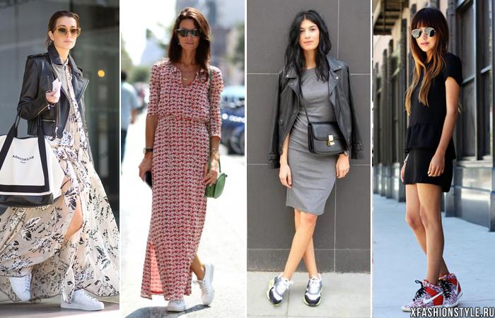 Платье + Кеды: как сочетать, чтобы выглядеть стильно?