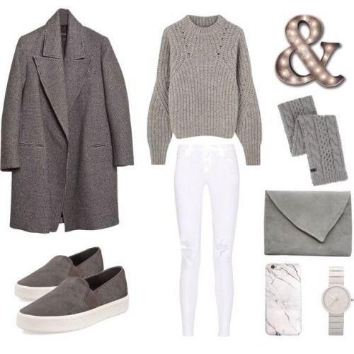 Нескучный серый: 8 ультра-модных сетов в стиле Casual