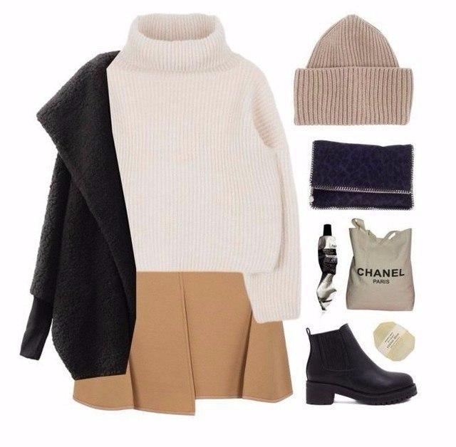 Главный Must-Have сезона: 10 уютных образов с теплым свитером
