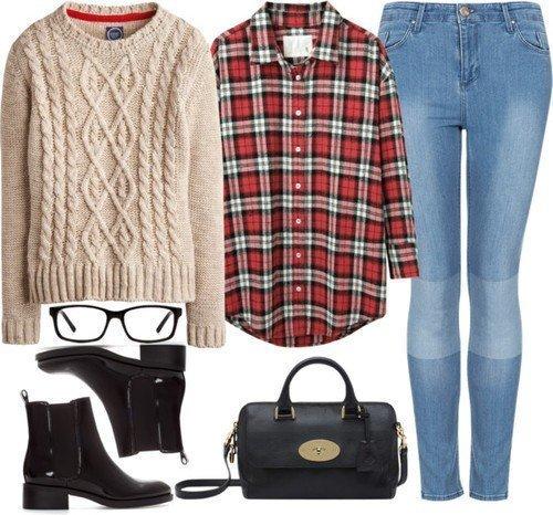 Любимая вещь: 6 осенних сетов с теплым бежевым свитером