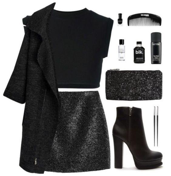 Как носить мини-юбку в холодное время: 6 модных образов-идей