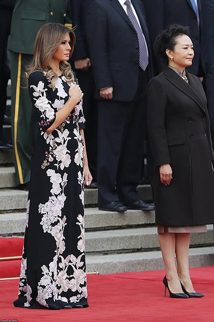 В восточном стиле: Мелания Трамп примерила на себя кимоно от Gucci