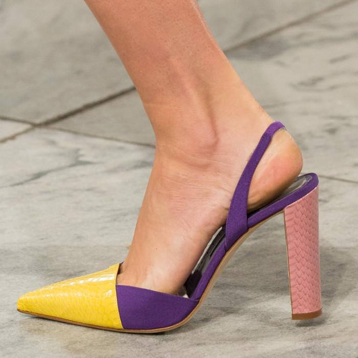 В стиле Ультрафиолет: ТОП-5 модных пар туфель с недели моды в Нью-Йорке