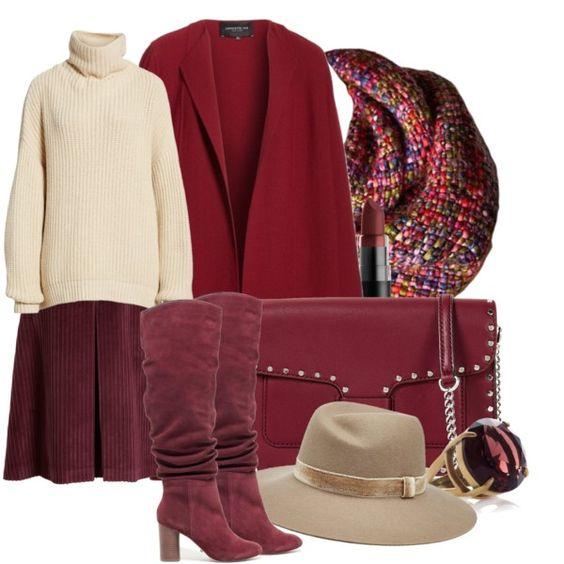 Красное пальто: 7 изысканных образов с одной вещью