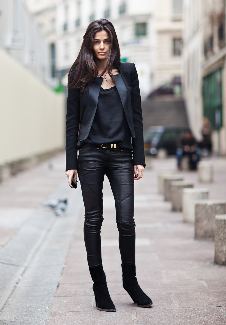 Леди в черном: 8 идей, как создать стильный образ с кожаными вещами