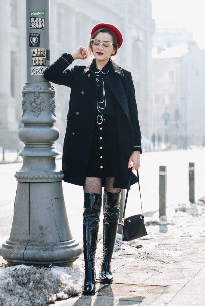 Снова в моде: 11 идей женских образов с лакированными сапогами