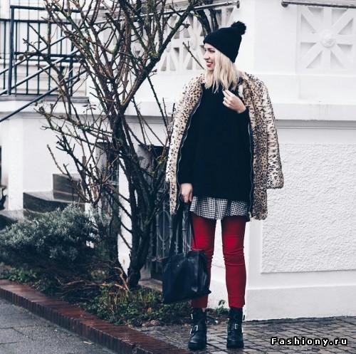 Как носить пальто с леопардовым принтом: 10 диких образов в street-style