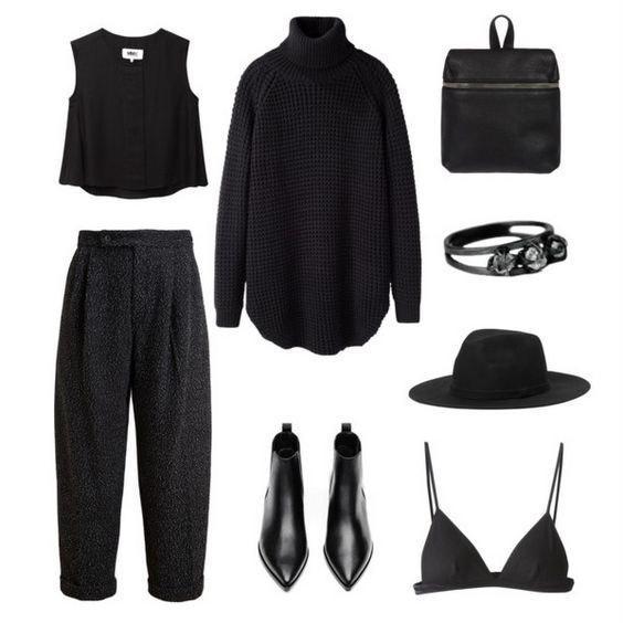 Универсальный черный: 5 стильных образов в любимом цвете