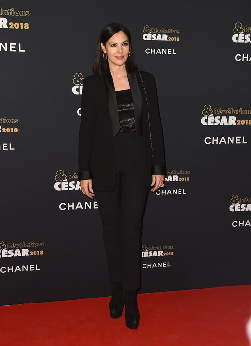 В черном Total-Look : Моника Белуччи блеснула на вечеринке в Париже