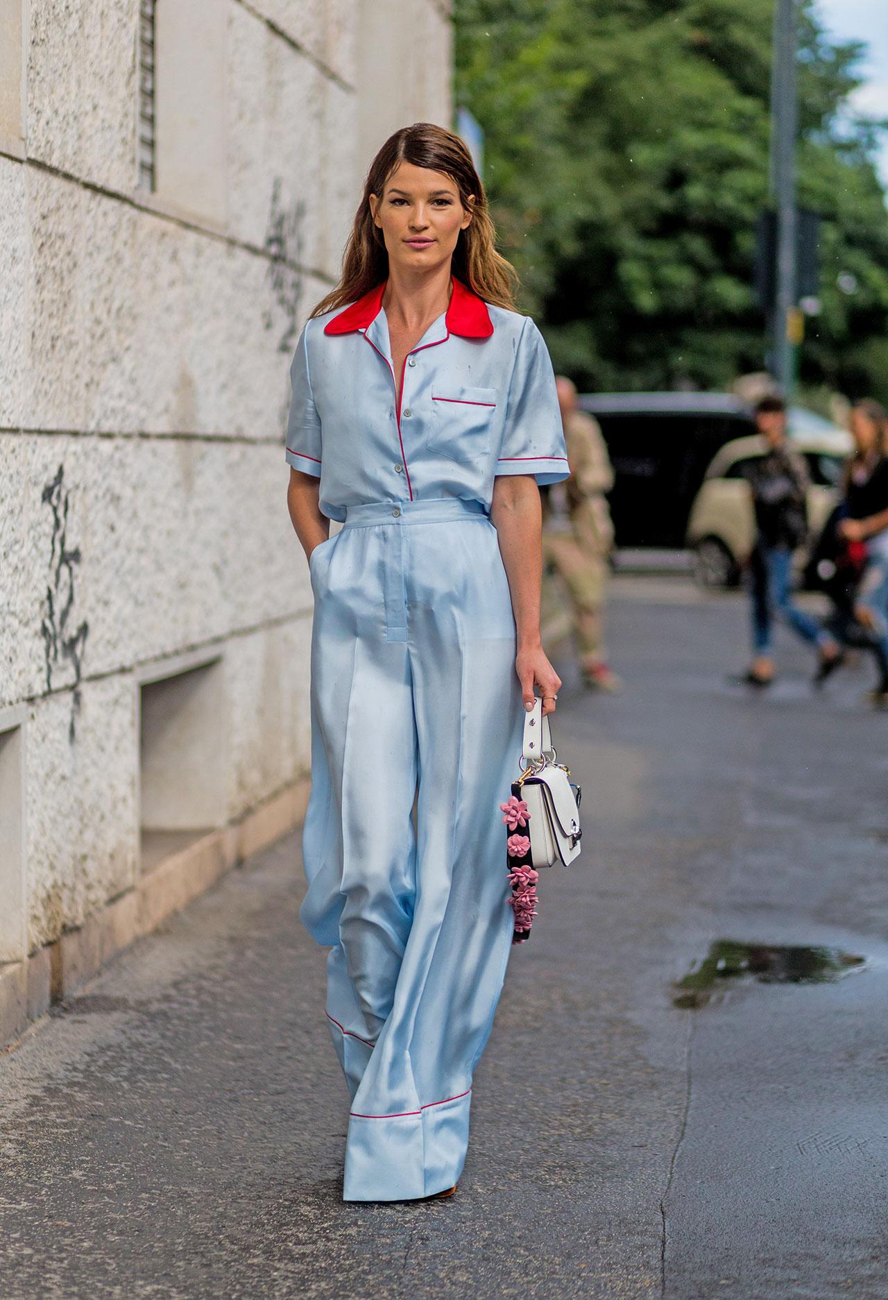Костюм-пижама: 15 трендовых образов на каждый день
