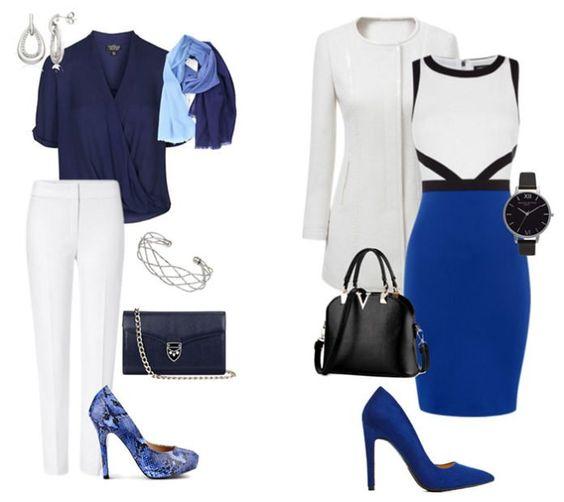 Морозное настроение: 7 бело-синих сетов для зимнего гардероба