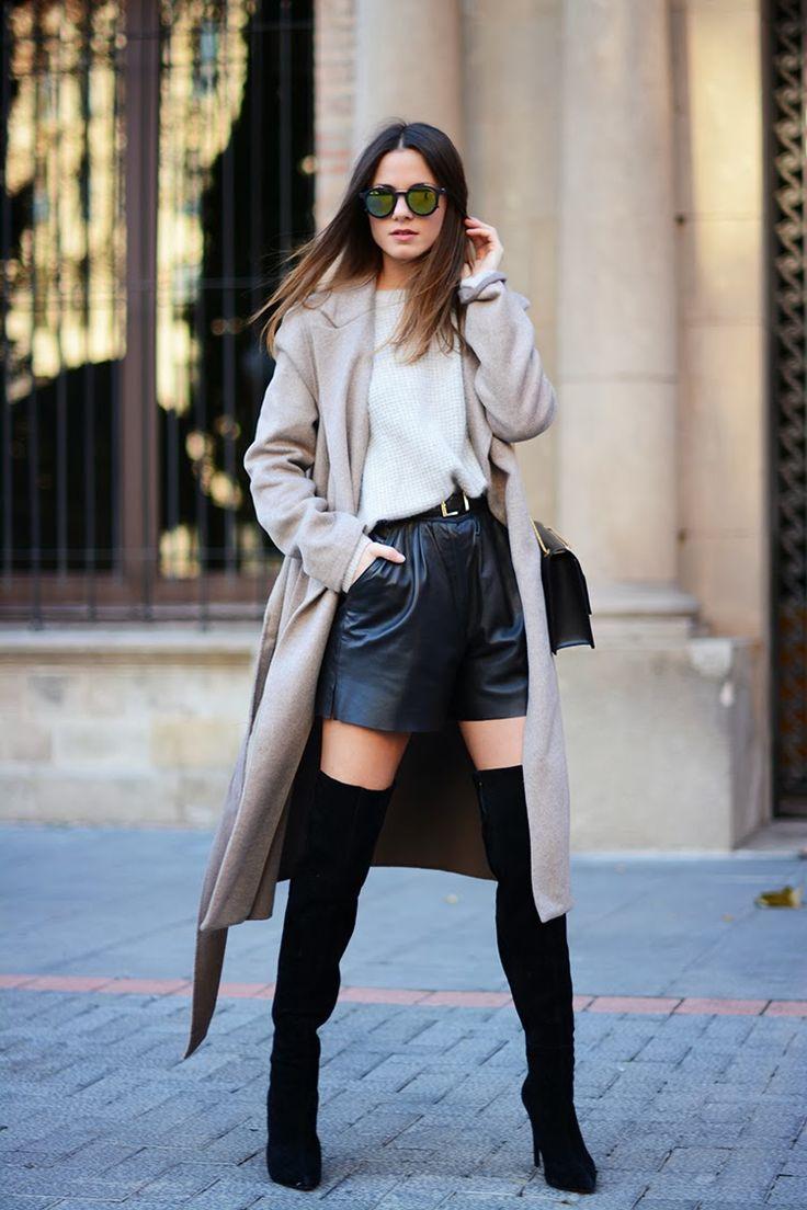 Кожаные шорты: 7 правил, с чем их носить зимой