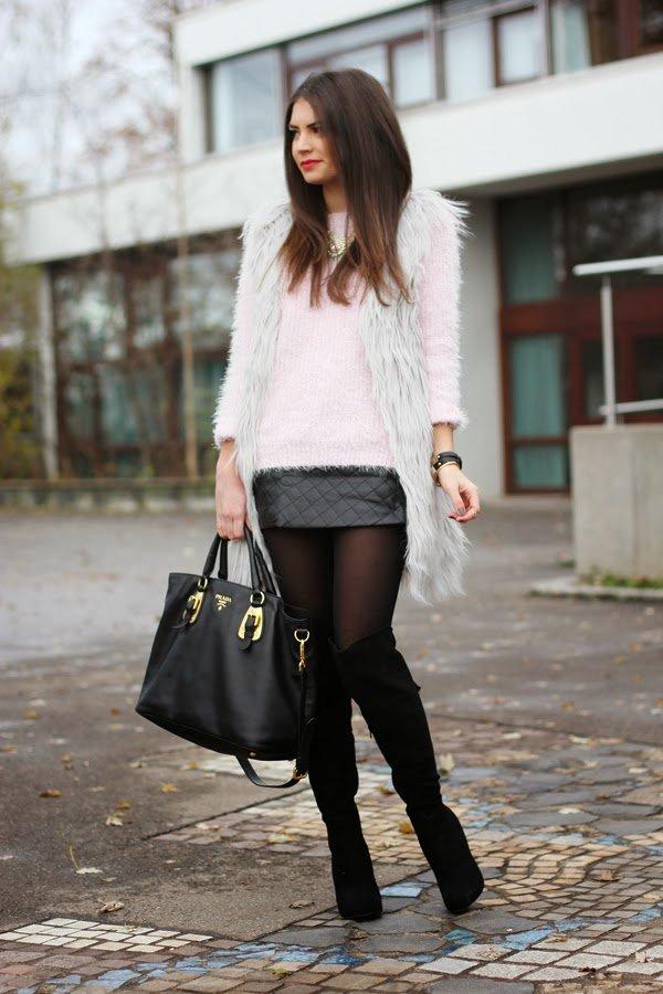 Кожаная юбка: 6 модных фасонов для этой зимы