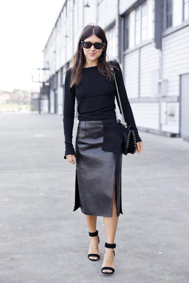 Супер длина: 5 кожаных юбок, которые добавят элегантность в ваш образ