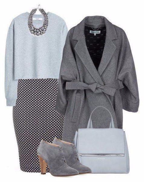 Универсальный тренд: 5 способов, как носить серый цвет зимой