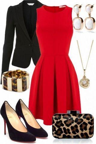 Акцентный красный: 7 ярких нарядов для офиса и вечеринки