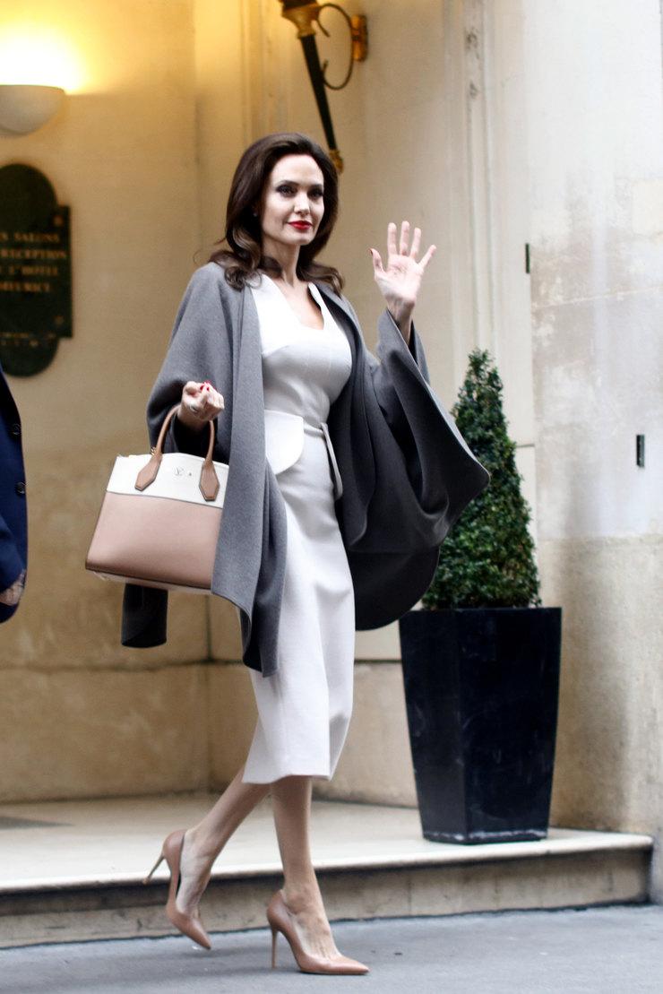 Самая стильная встреча этого года: Анжелина Джоли и Бридит Макрон в Париже