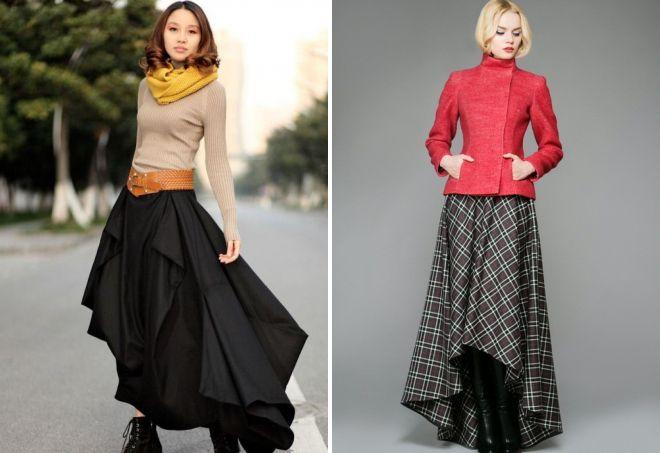 Все по-зимнему: 16 уютных вариантов юбками из теплой ткани