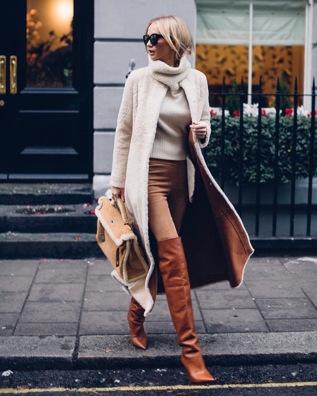 Приручаем тренд: 7 весенних образов с меховой сумкой