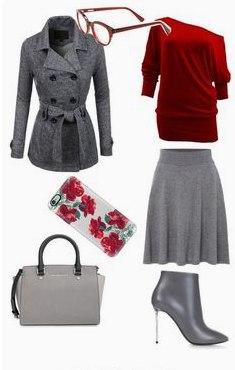 Ставка на серый: 9 вдохновляющих образов с пальто