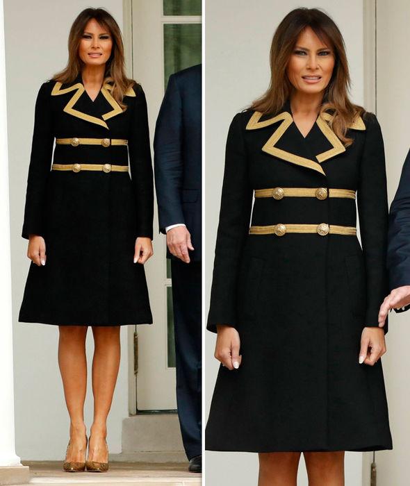 Золотой и черный: Мелания Трамп всем видом показывает — о разводе нет и речи