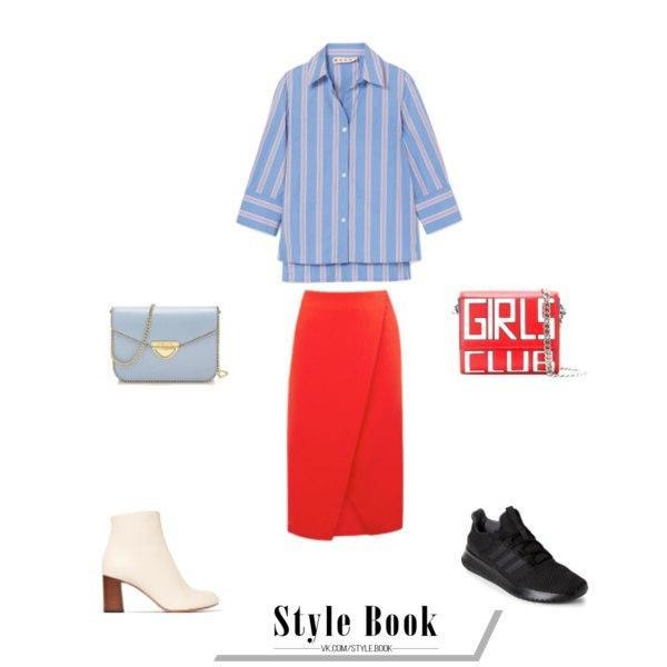Когда вещь говорит все за вас: 8 модных образов с красной юбкой