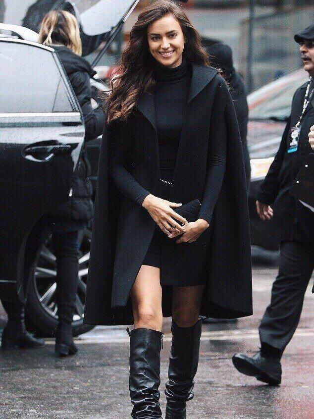 Мастер-класс от Ирины Шейк: 10 эффектных способов носить черный