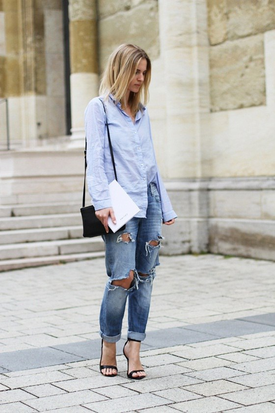 6 ультра-модных способов, как носить голубую рубашку весной 2018