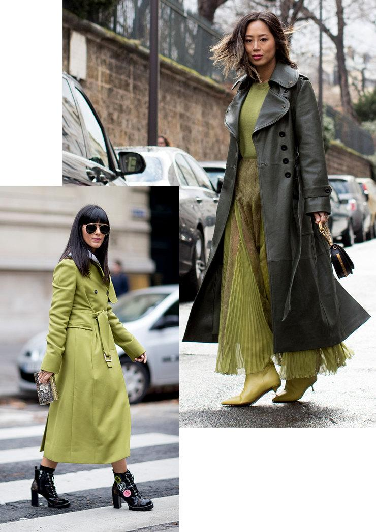Зазеленело: 17 способов носить вещи в оттенках от салатового до изумрудного