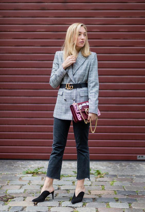 Мода в квадрате: 8 способов носить клетчатый пиджак весной