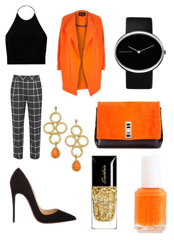 Эффектные сеты в оранжевом цвете: 9 способов поднять себе настроение