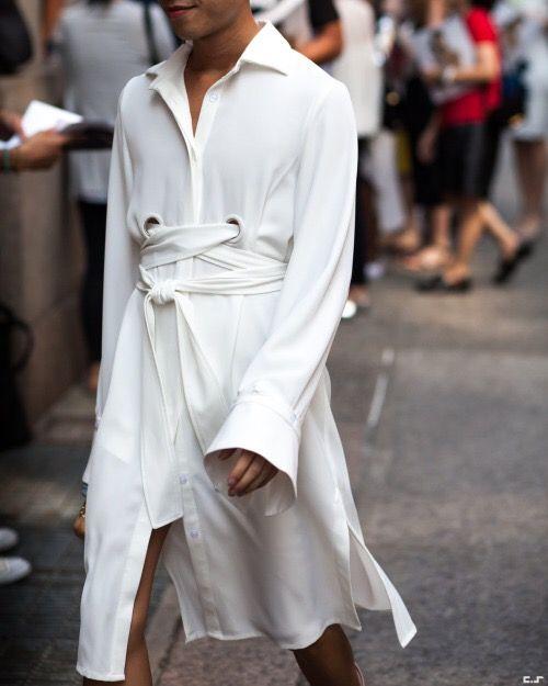 Как носить горячий тренд 2018: 7 образов с платьем-рубашкой