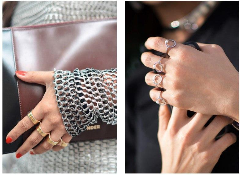 Яркий тренд 2018: как правильно носить множество колец на пальцах