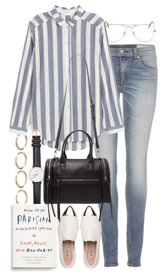 Стильное Ноу-Хау: 7 модных образов с джинсами и рубашкой