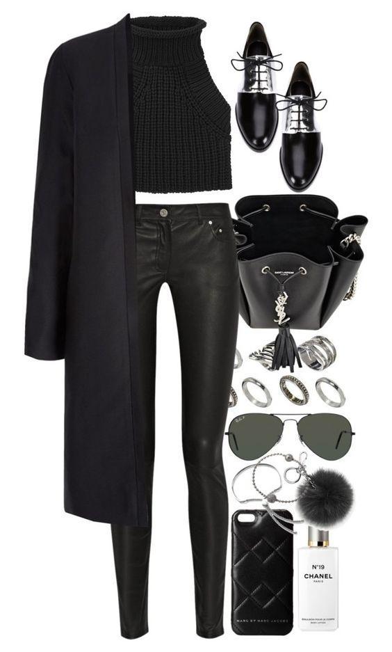 Как и с чем носить кожаные скинни: 8 шикарных образов из простых вещей