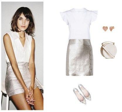 Как носить юбку-металлик этой весной, чтобы быть в тренде