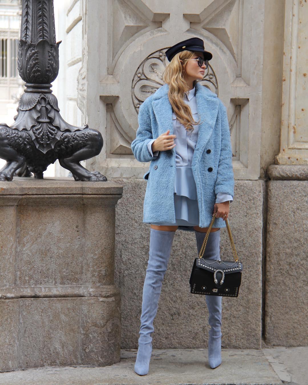 С чем носить нежно-голубой: 15 соблазнительных образов