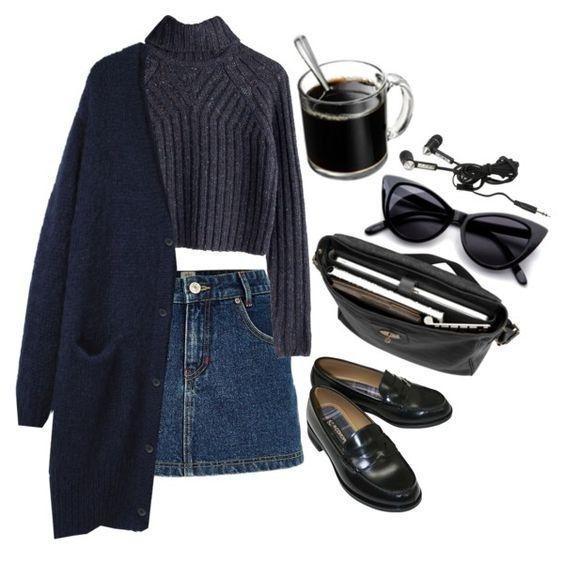 Юбка-мини: 6 стильных образов для прохладной погоды