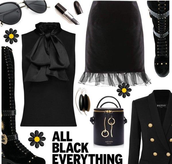 Леди в черном: 5 образов в стиле Total-Black