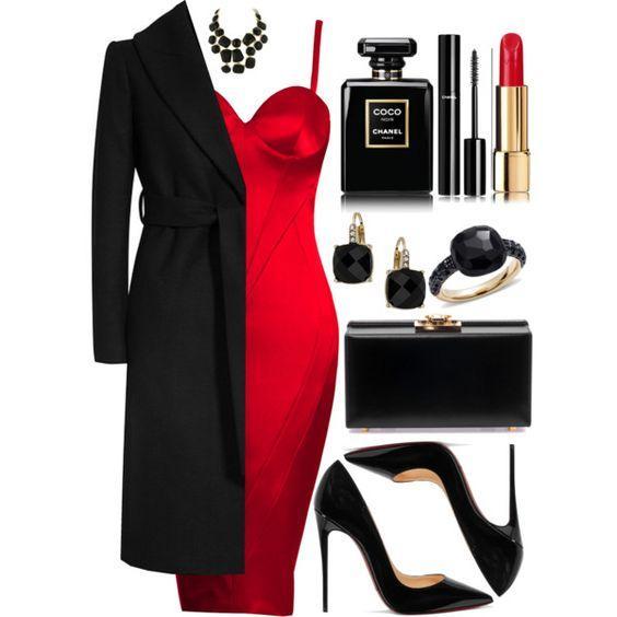 Красное Черное: 9 образов, которые никогда не выйдут из моды