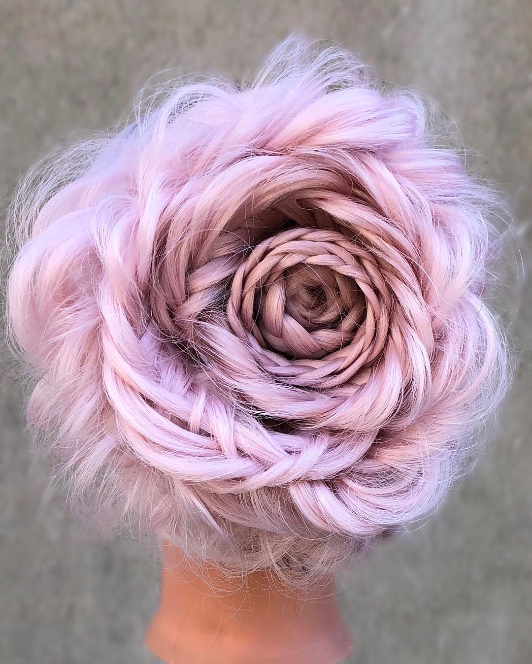 Роскошные розы из волос — самый женственный тренд этого сезона