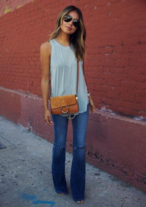 8 умопомрачительных образов с джинсами-клеш, ради которых можно пойти на что угодно